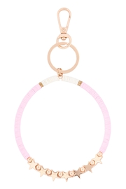 Riah Fashion Sequin-Beads-Star-Bracelet-Keychain - Front cropped