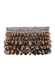 Riah Fashion Seven-Lines-Glass-Beads-Stretch-Bracelet - Product Mini Image