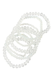 Riah Fashion Seven Lines Glass-Beads-Stretch-Bracelet - Front full body