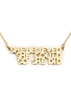 Riah Fashion She Believed She Could So She Did Necklace - Product List Image
