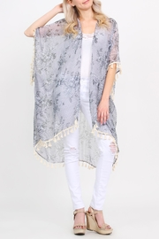Riah Fashion Sheer-Tassel Floral Cardigan - Product Mini Image