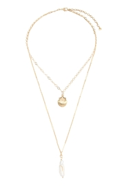 Riah Fashion Shell-With-Pearl-Double-Layer-Necklace - Product Mini Image