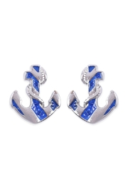 Riah Fashion Ship Anchor Earrings - Product Mini Image