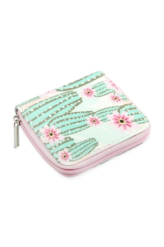 Shoptiques Product: Short-Cute-Digital-Printed-Single-Zipper-Wallet