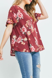 Riah Fashion Short-Sleeve-Floral-Print-Top - Other