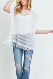 Riah Fashion Short-Sleeves See-Through-Knitted-Tassel Top - Product Mini Image