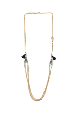Riah Fashion Side Tassel Layered Necklace - Alternate List Image
