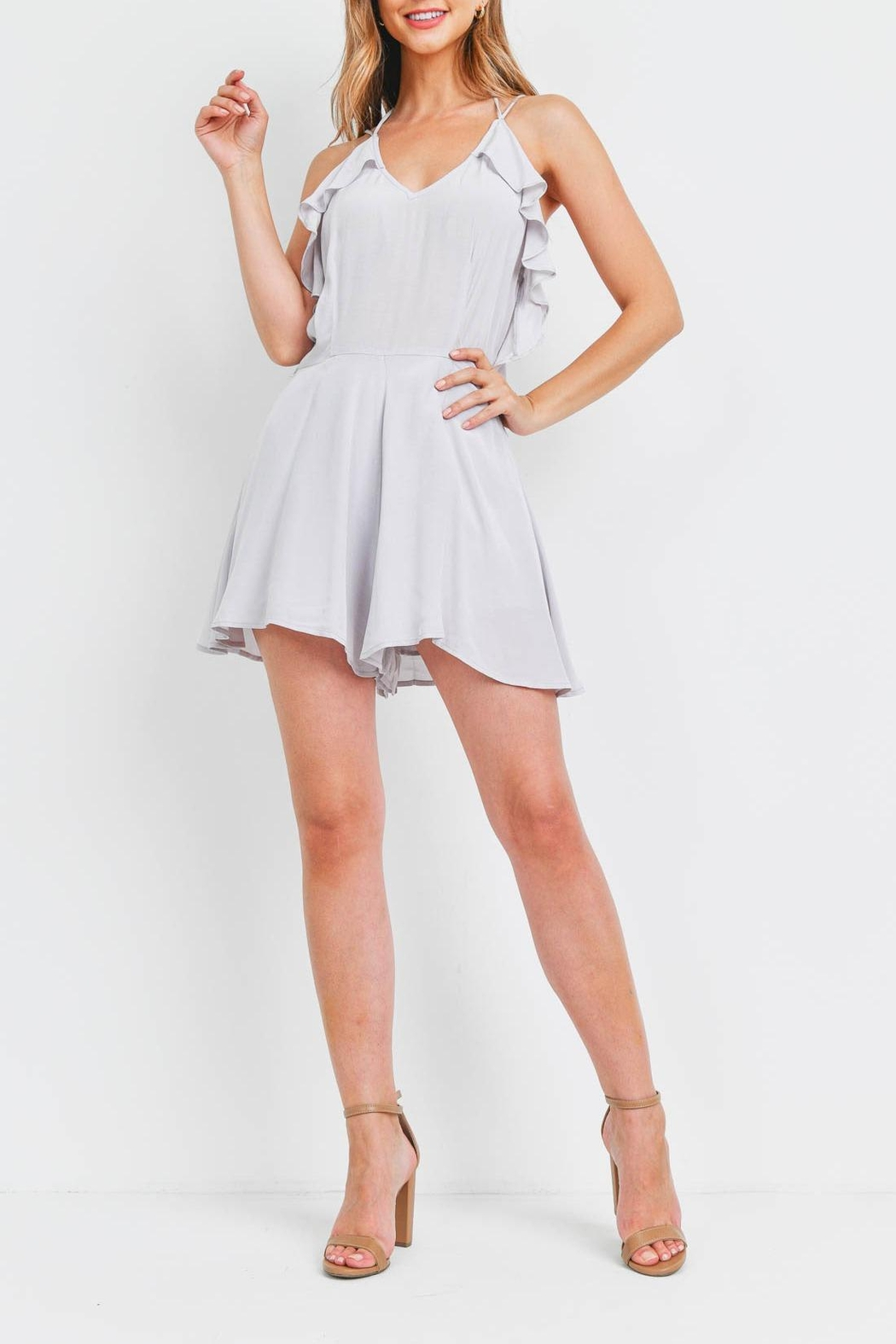 Riah Fashion Silver Romper - Side Cropped Image