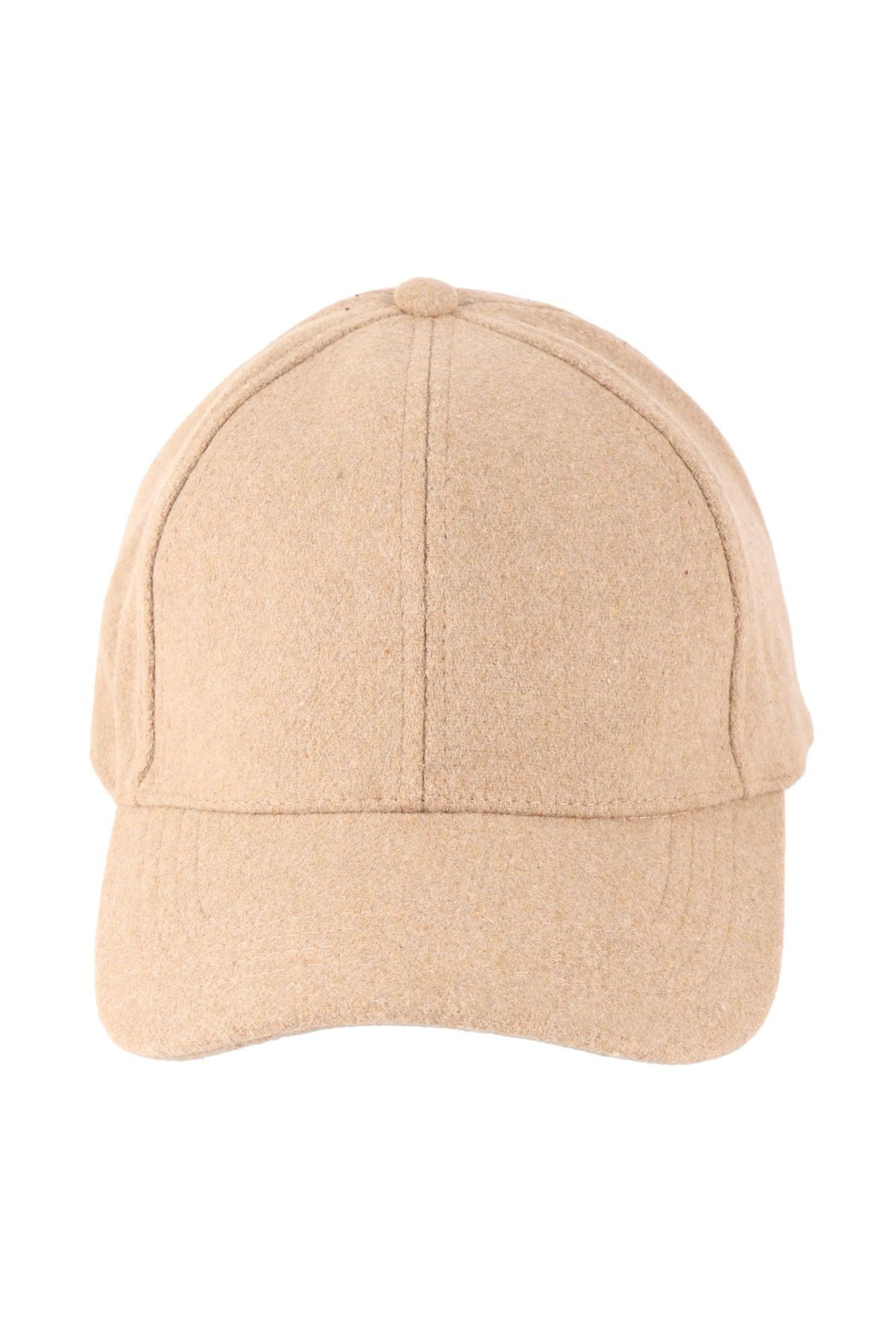 Riah Fashion Simple-Neutral-Color-Cap - Front Cropped Image