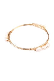 Riah Fashion Simply Wired Bracelet - Front cropped