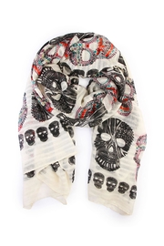 Riah Fashion Skul Printed Scarf - Product Mini Image