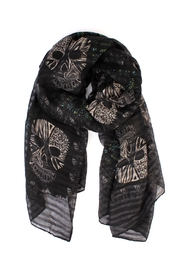 Riah Fashion Skull Printed Scarf - Product Mini Image