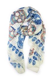 Riah Fashion Skull Printed Scarf - Front cropped