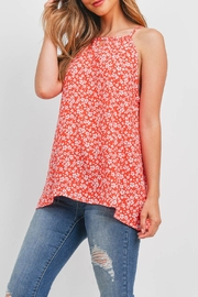 Riah Fashion Sleeveless-Keyhole-Floral-Top - Side cropped