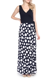 Riah Fashion Polka Dot Maxi Dress - Product Mini Image