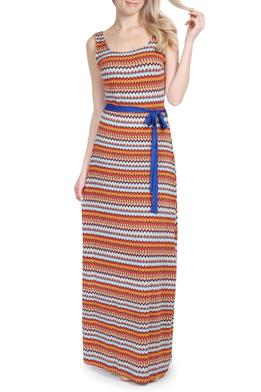 Riah Fashion Tribal Print Maxi Dress - Main Image
