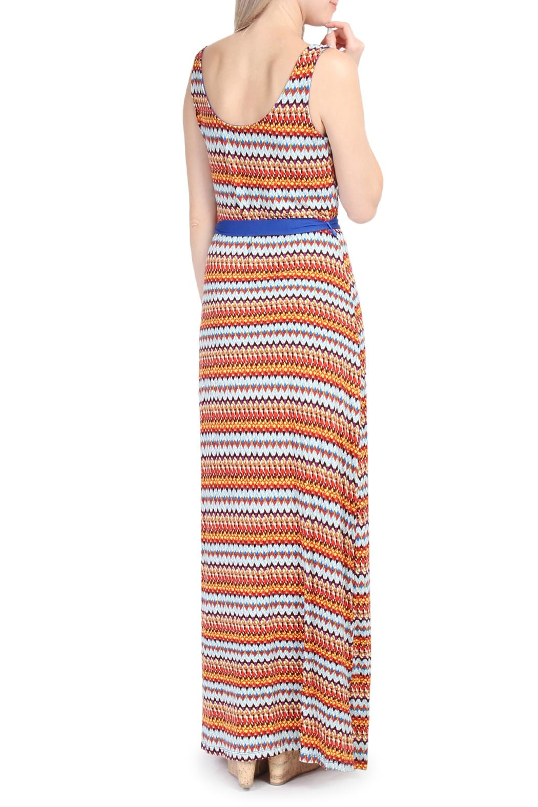 Riah Fashion Tribal Print Maxi Dress - Side Cropped Image