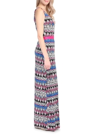 Riah Fashion Tribal Print Maxi Dress - Front full body