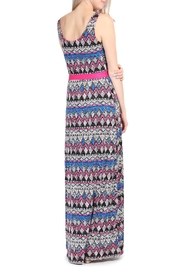 Riah Fashion Tribal Print Maxi Dress - Side cropped