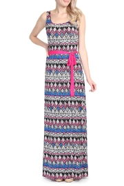 Riah Fashion Tribal Print Maxi Dress - Front cropped