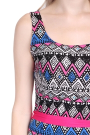 Riah Fashion Tribal Print Maxi Dress - Back cropped