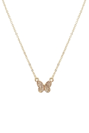 Riah Fashion Small-Butterfly-Pave-Cubic-Pendant-Necklace - Product Mini Image
