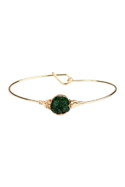 Riah Fashion Small-Wired Round-Resin Druzy-Bracelet - Front cropped