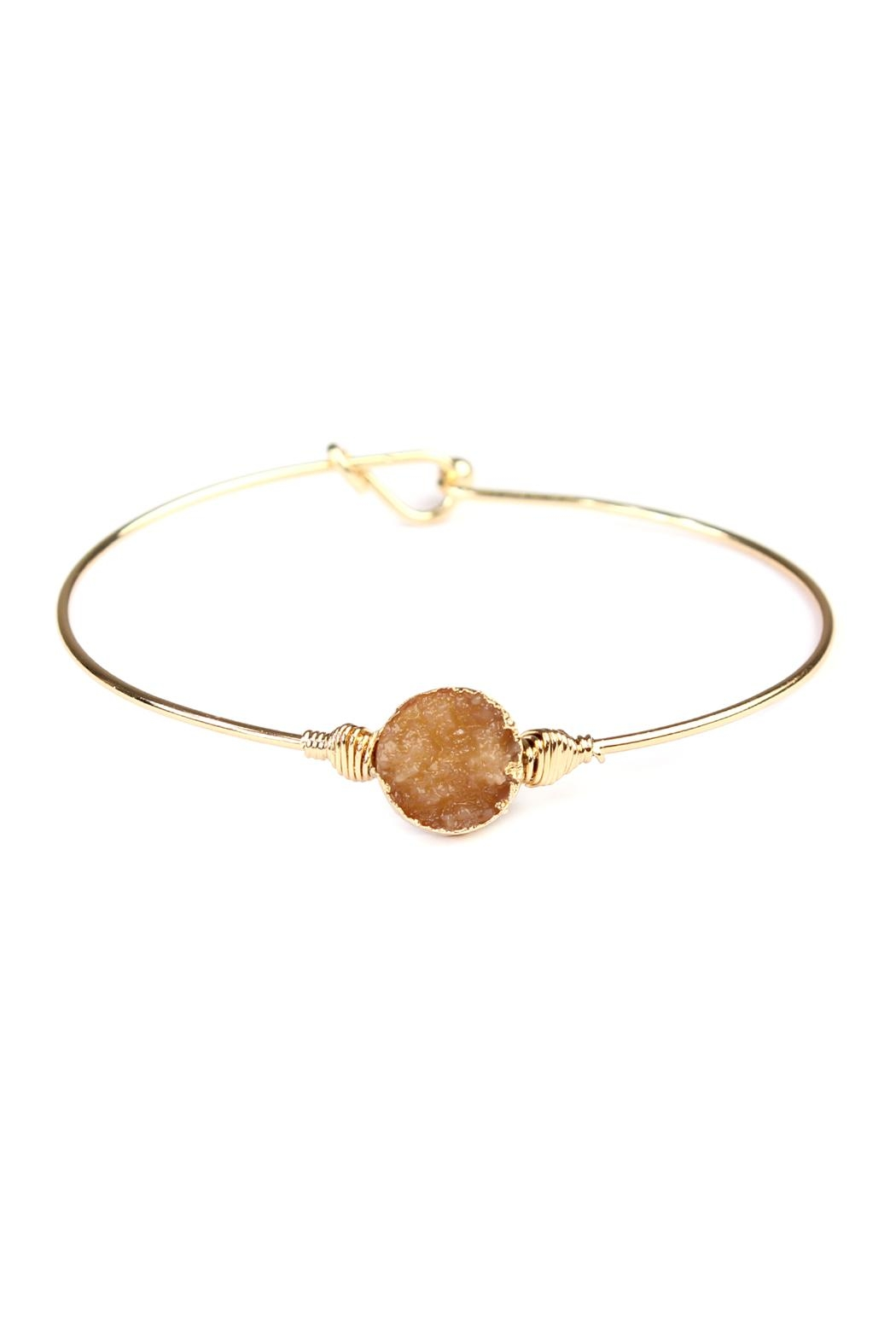 Riah Fashion Small-Wired Round-Resin Druzy-Bracelet - Main Image