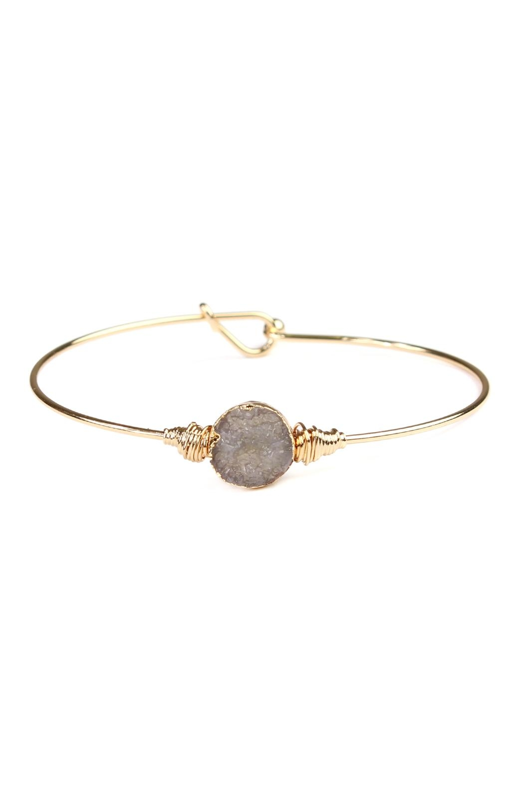 Riah Fashion Small-Wired Round-Resin Druzy-Bracelet - Front Cropped Image
