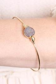 Riah Fashion Small-Wired Round-Resin Druzy-Bracelet - Front full body