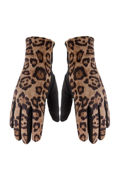 Riah Fashion Smart-Touch-Leopard-Gloves - Product List Image