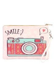 Riah Fashion Smile Print Cosmetics-Bag - Product Mini Image