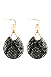 Riah Fashion Snake Print-Pu-Leather-Earrings - Product Mini Image