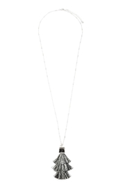 Riah Fashion Snake Pu With-Tassel-Necklace - Side cropped