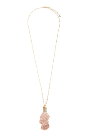 Riah Fashion Snake Pu With-Tassel-Necklace - Front full body