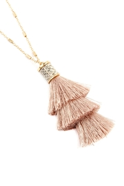 Riah Fashion Snake Pu With-Tassel-Necklace - Front cropped