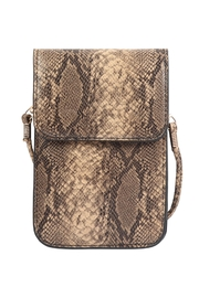 Riah Fashion Snake Skin Cellphone Crossbody With Clear Window Bag - Product Mini Image