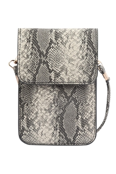 Riah Fashion Snake Skin Cellphone Crossbody With Clear Window Bag - Product List Image