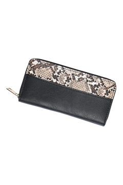 Riah Fashion Snake-Skin-Leather-Zipper-Wallet - Product List Image