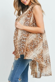 Riah Fashion Snake-Skin-Light Kimono Vest - Product Mini Image