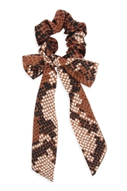 Riah Fashion Snake Skin-Printed-Fabric Ribbon-Hair-Crunchies - Product Mini Image
