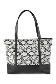 Riah Fashion Snake Skin Printed Tote Bag - Product Mini Image