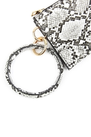 Riah Fashion Snake-Skin Zippered-Bag With-Ring-Holder - Front full body