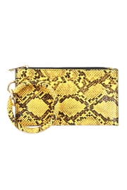 Riah Fashion Snake-Skin Zippered-Bag With-Ring-Holder - Product Mini Image