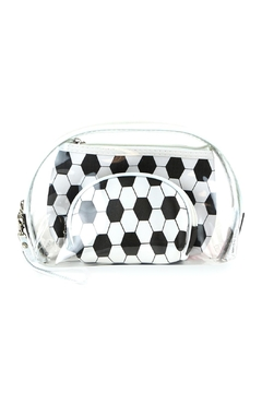 Riah Fashion Soccer And Clear 3pcs Pouches - Alternate List Image