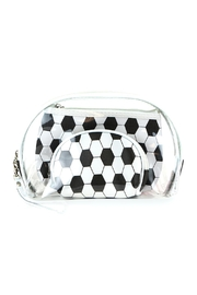 Riah Fashion Soccer And Clear 3pcs Pouches - Product Mini Image