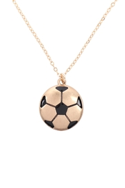Riah Fashion Soccer-Ball-Pendant-W/-Message-On-Back-Necklace - Product Mini Image