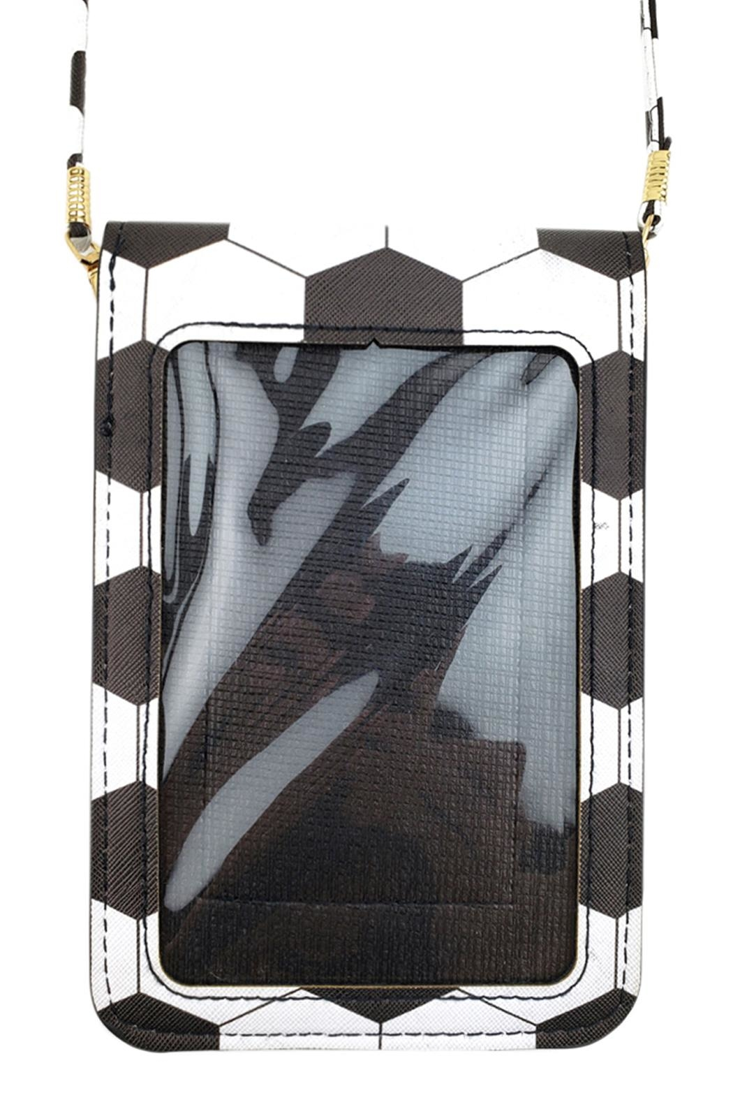 Riah Fashion Soccer Cellphone-Crossbody With-Clear-Window - Front Full Image