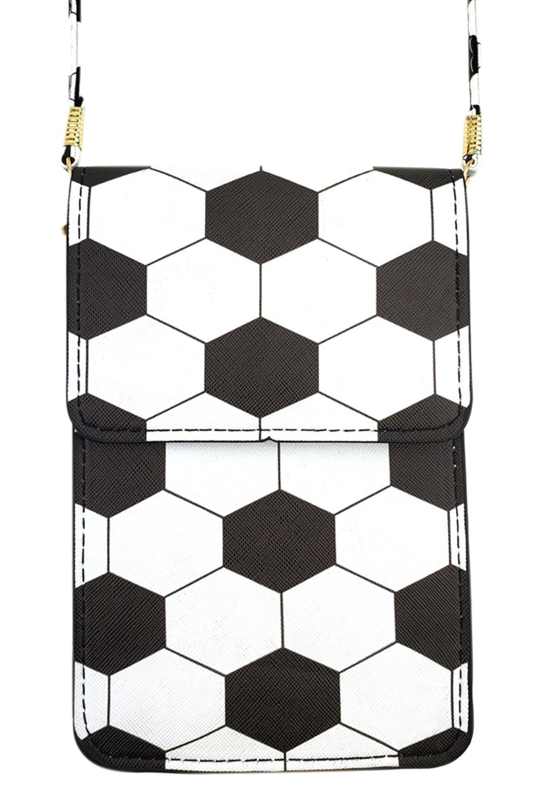 Riah Fashion Soccer Cellphone-Crossbody With-Clear-Window - Main Image