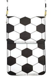 Riah Fashion Soccer Cellphone-Crossbody With-Clear-Window - Front cropped